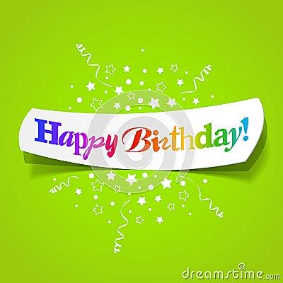 Salutations de joyeux anniversaire