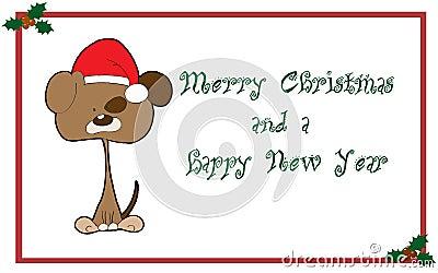 Salutations de Noël de carte