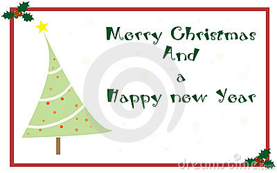 Salutations De Noël De Carte Photographie stock - Image: 7540912