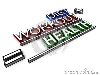 Salute di allenamento di dieta