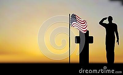 Salutera för armésoldat