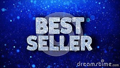 Saluti blu delle particelle di desideri del testo del best-seller, invito, fondo di celebrazione illustrazione vettoriale