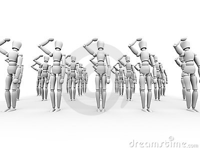 Saluting Army