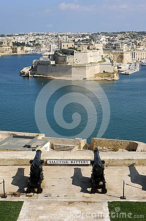 Saluting battery Malta Grand Harbour