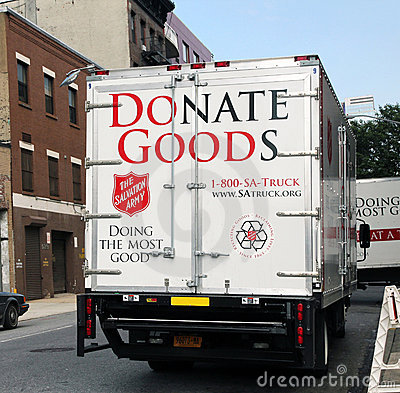 Salvation army pick-up truck. Editorial Photo