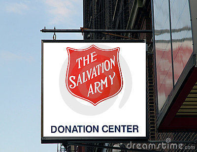 The salvation army sign. Editorial Photography