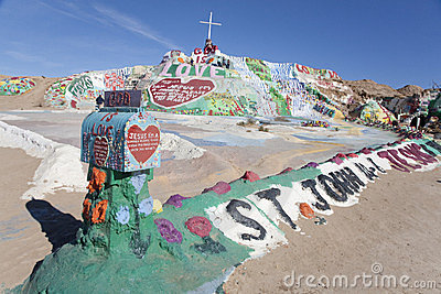 Salvation Mountain 1 Editorial Photography