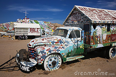 Salvation Mountain, Niland, California Editorial Photo
