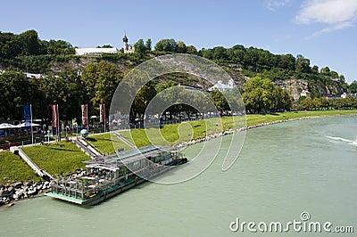 Salzach river in Salzburg