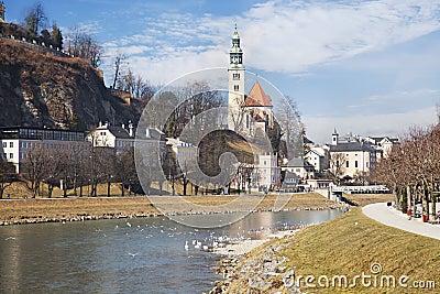 Salzach river. Salzburg, Austria