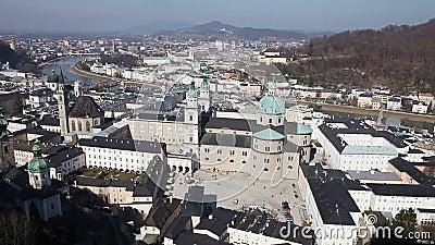 Salzburg, Austria. Panoramic view of Salzburg's Old Town, Austria