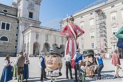 Salzburger Dult Festzug at Salzburg, Austria Editorial Image
