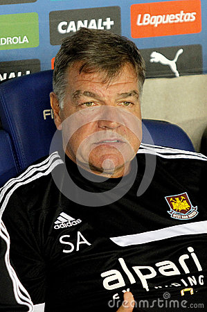 Sam Allardyce coach of West Ham Editorial Stock Image