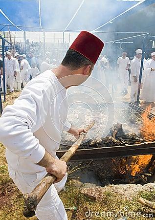 Samaritan Passover sacrifice Editorial Photography