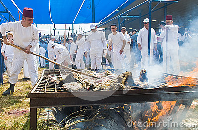 Samaritan Passover sacrifice Editorial Stock Image