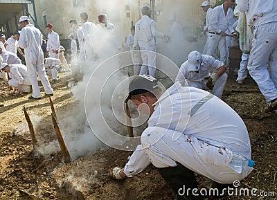 Samaritan Passover sacrifice Editorial Image