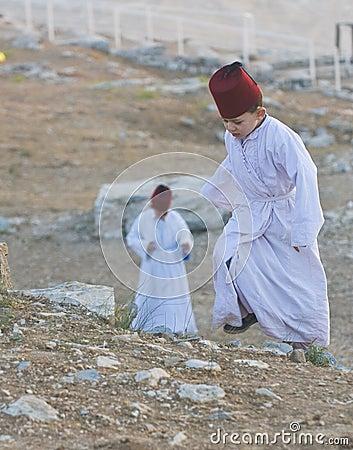 Samaritan Shavuot pray Editorial Image