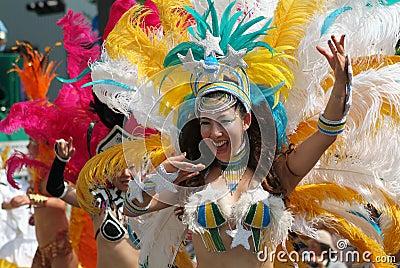 Samba Dancer Editorial Photography