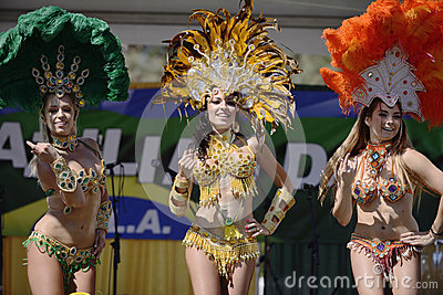 Samba dancers Editorial Image