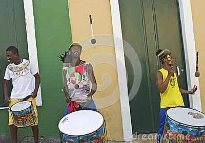 Samba street performers Editorial Photo