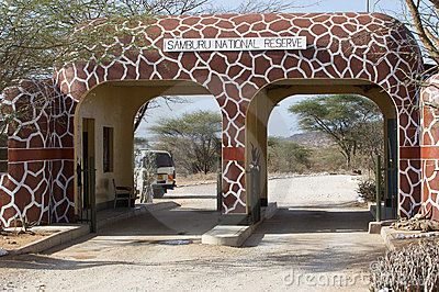 Samburu National Reserve gate Editorial Image