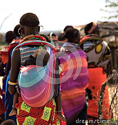 Free Samburu Women And Children Royalty Free Stock Photos - 2562348