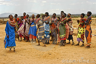 Samburu Women Dancers, Kenya Africa Editorial Stock Photo