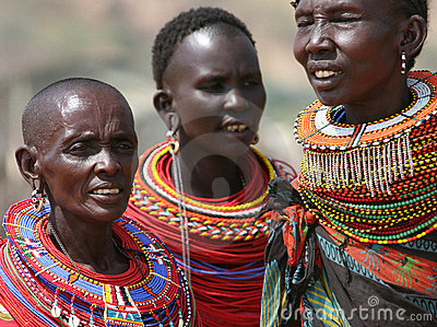 Samburu women in East Africa Editorial Stock Image