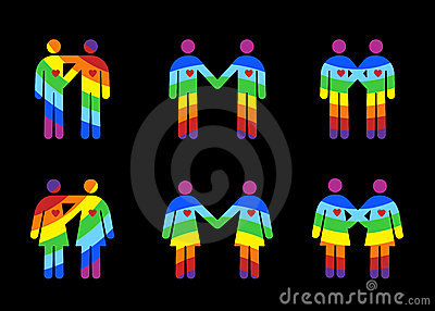 Same Sex Couples Pictograms