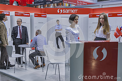 Samet furniture accessories company booth Editorial Photography