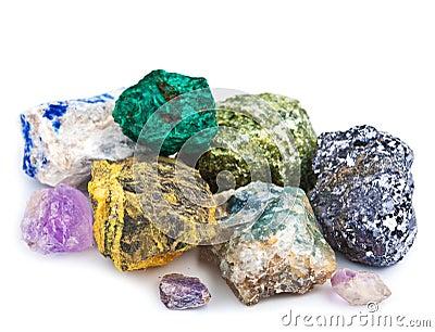 Sammlung Mineralien