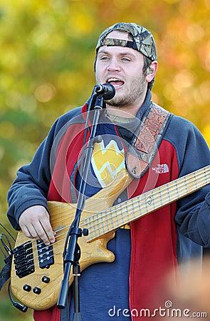 Sammy Davisson of the Davisson Brothers Band Editorial Stock Photo