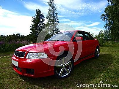 Samochodowa czerwień