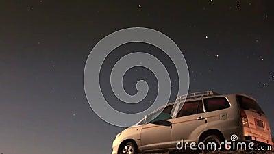 Samochodowa przygody podróży nocy pustynia zdjęcie wideo