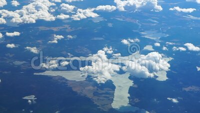 Samolot nad ziemią uprawną Holandia z najwyższego punktu widzenia zdjęcie wideo