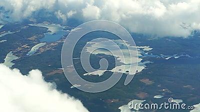 Samolot nad ziemią uprawną Widok z góry na Holandię zbiory