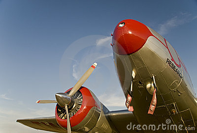 Samolot pasażerski stary
