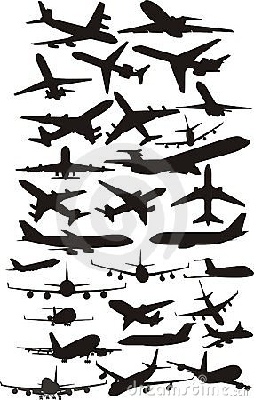 Samolotowi silhoetts