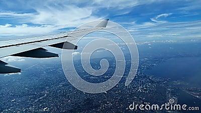 Samolotowy latanie nad Filipiny zdjęcie wideo