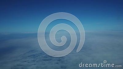 Samolotu kokpitu widok robi podejściu ziemia zbiory wideo