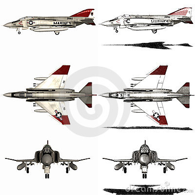 Samolotu wojownika fantom