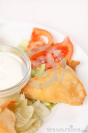 Samosa with sauce