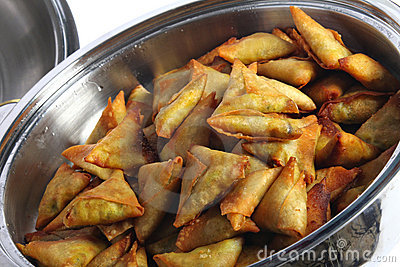Samosas in a bowl