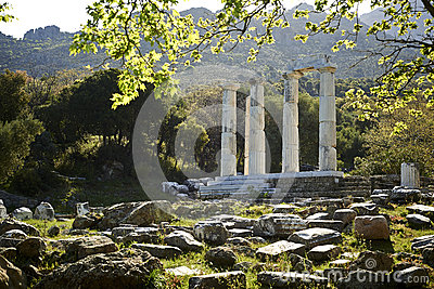 Samothrace, The Sanctuary Of The Great Gods Stock Photo ...