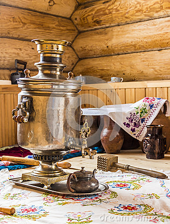 Free Samovar In The Kitchen Stock Photos - 60618723