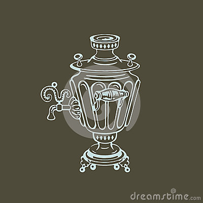Samovar. Vector illustration Vector Illustration