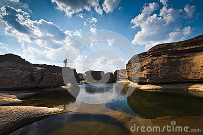 Sampanbok (3000 Hole), Thailand. Stock Photos - Image: 25266003