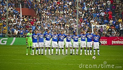 Sampdoria Genoa before the match Editorial Image