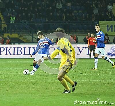 Sampdoria Genoa MF Daniele Dessena Editorial Stock Image