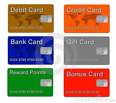 Sample credit and gift cards
